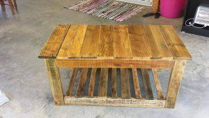 wooden pallet rustic yet modern coffee table