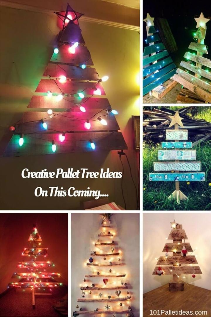creative pallet tree ideas