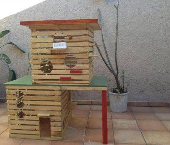 recycled pallet pet house