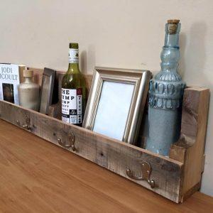 pallet wall mounted shelf