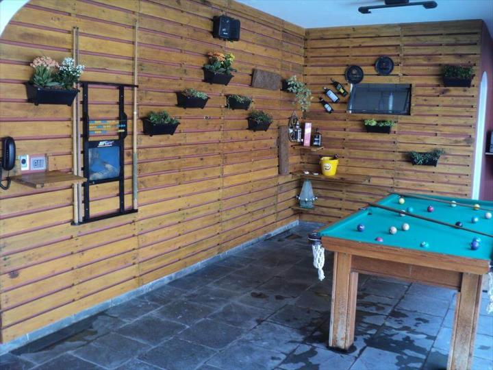 super functional and decorative pallet wood wall