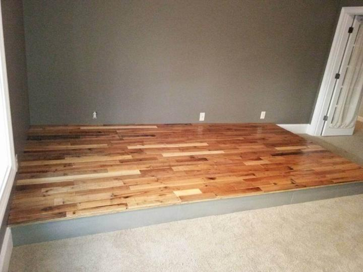 diy pallet wooden floor