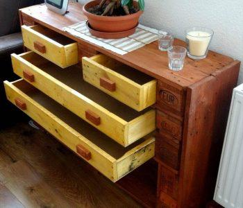 repurposed pallet chest of drawer