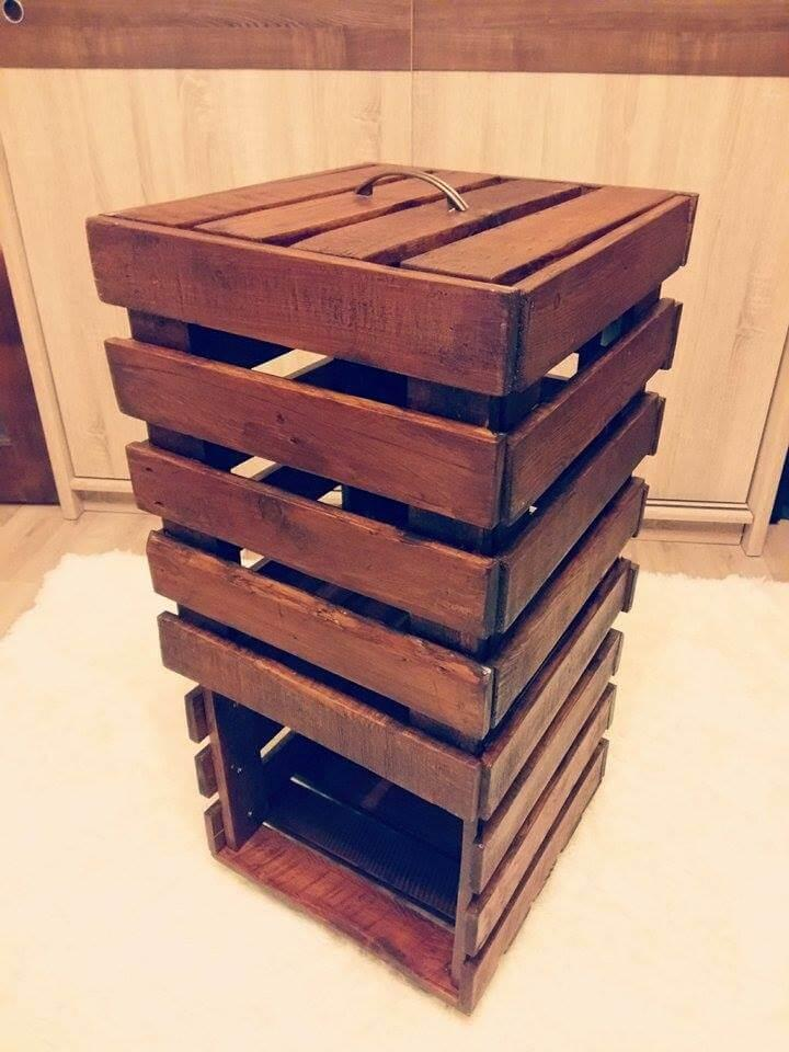 bathroom storage furniture made of pallets