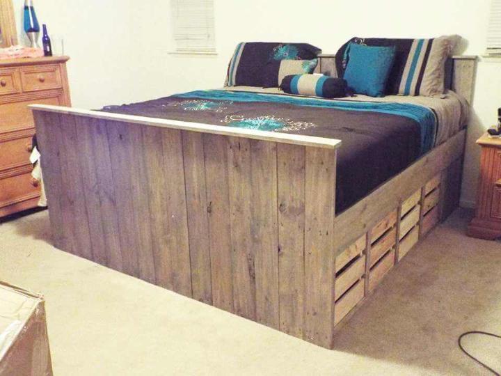 solid pallet bed