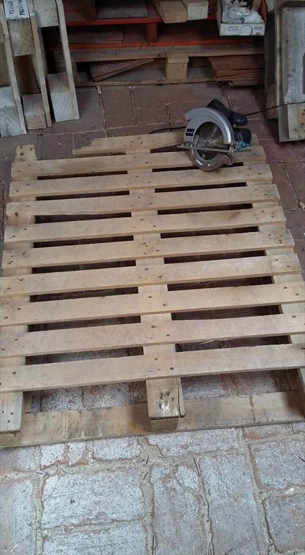 rustic wooden pallet board