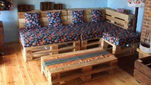 Pallet Sectional Sofa Set for Living room