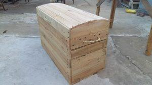 Upcycled Wood Pallet Trunk