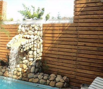 pallet poolside wall paneling