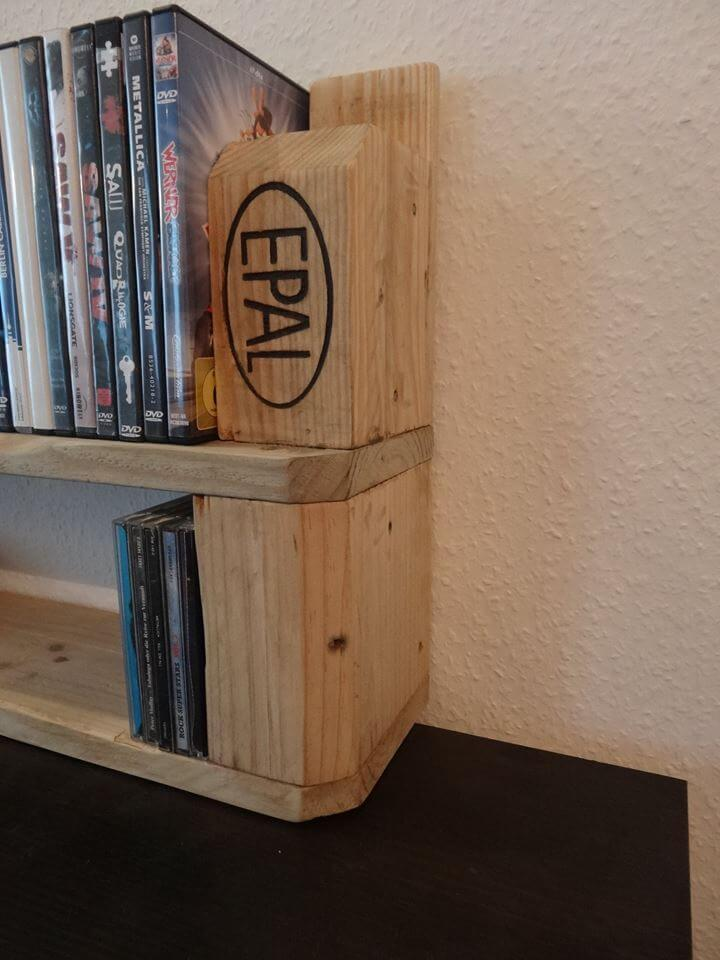 handcrafted pallet wooden shelf
