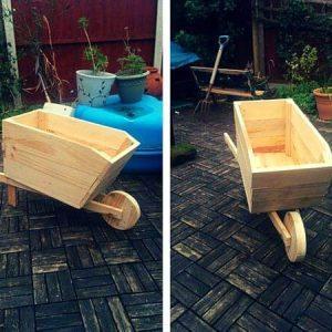 Wood Pallet Wheelbarrow