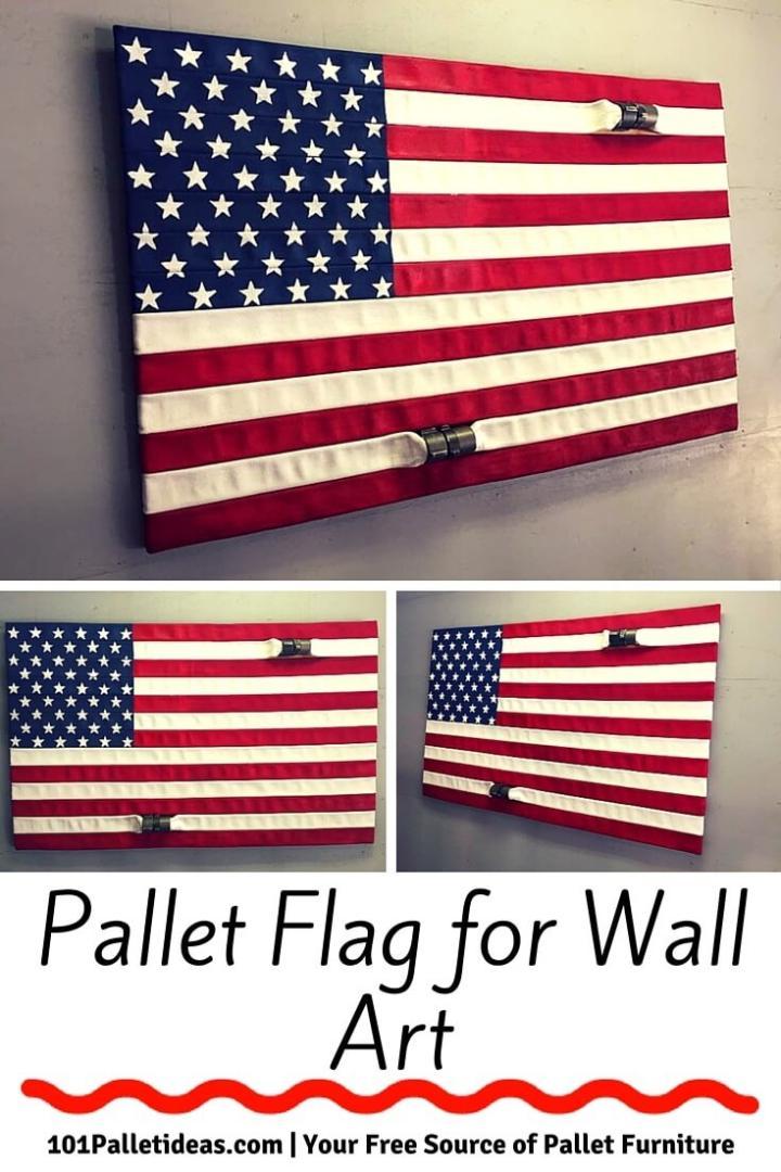 Pallet Flag Art - DIY