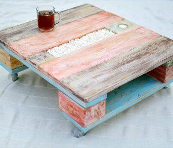 diy pallet colorful pallet with wheels