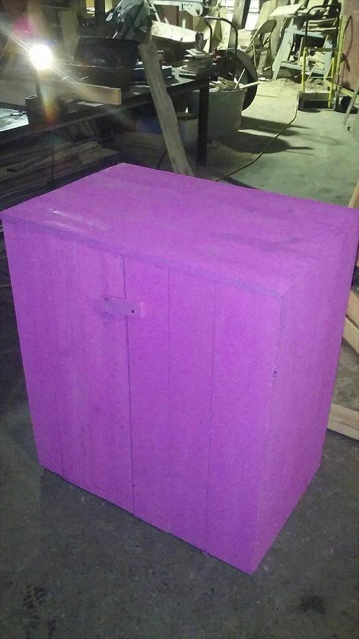 pallet beverage cabinet