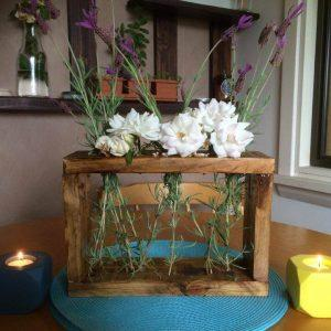 recycled pallet dining table decors
