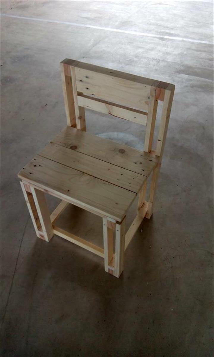 pallet kid's chair
