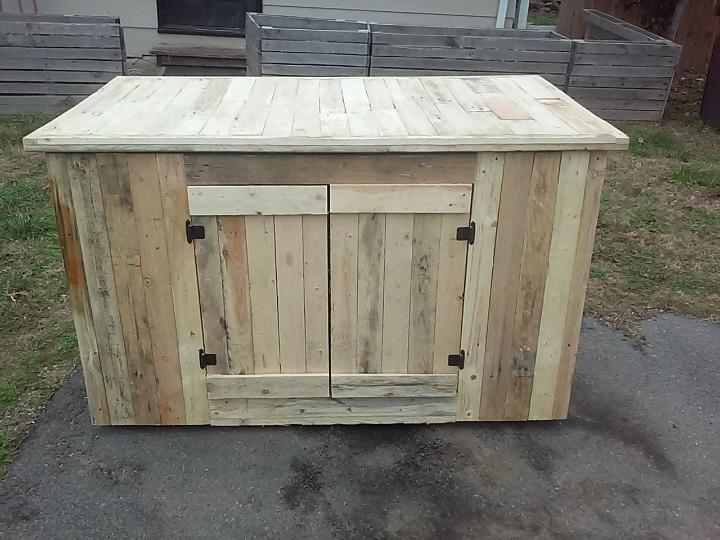 Wooden pallet kitchen island with cabinets easy ideas