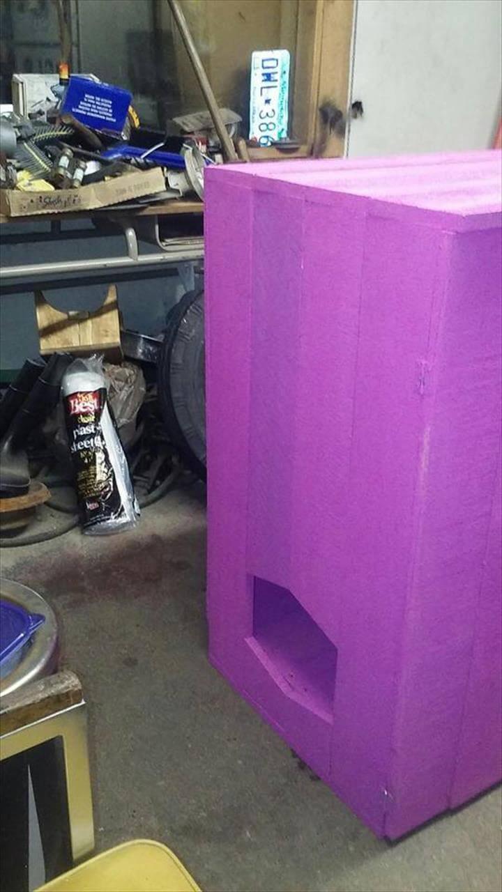 diy pallet beverage cabinet