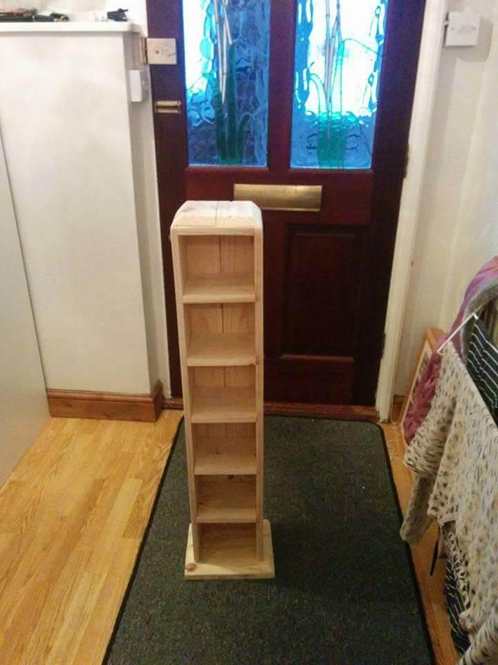 wooden pallet CD tower
