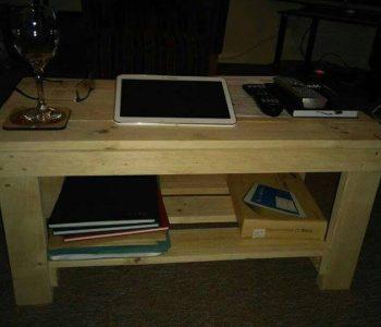 heavy duty wooden pallet coffee table