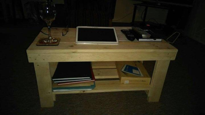 heavy duty wooden pallet coffee table