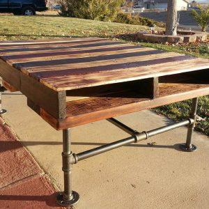 diy pallet and pvc pipe coffee table