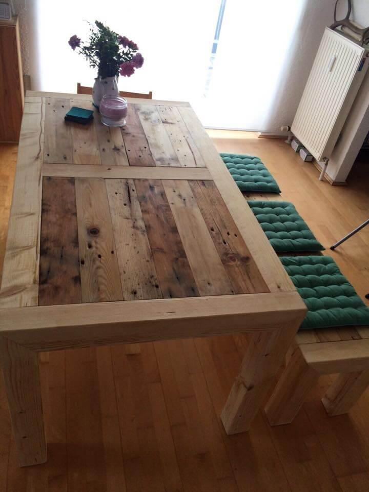 diy pallet breakfast and dining table