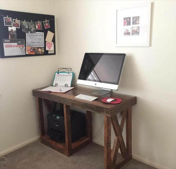 upcycled wooden computer desk