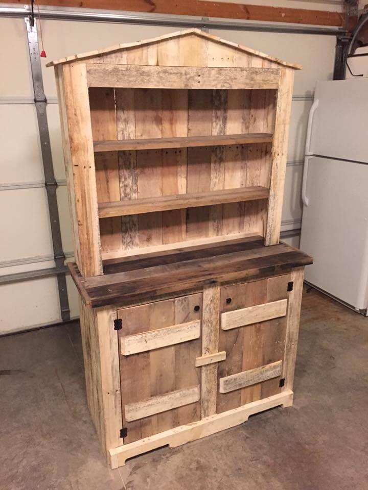 low-cost kitchen pallet hutch