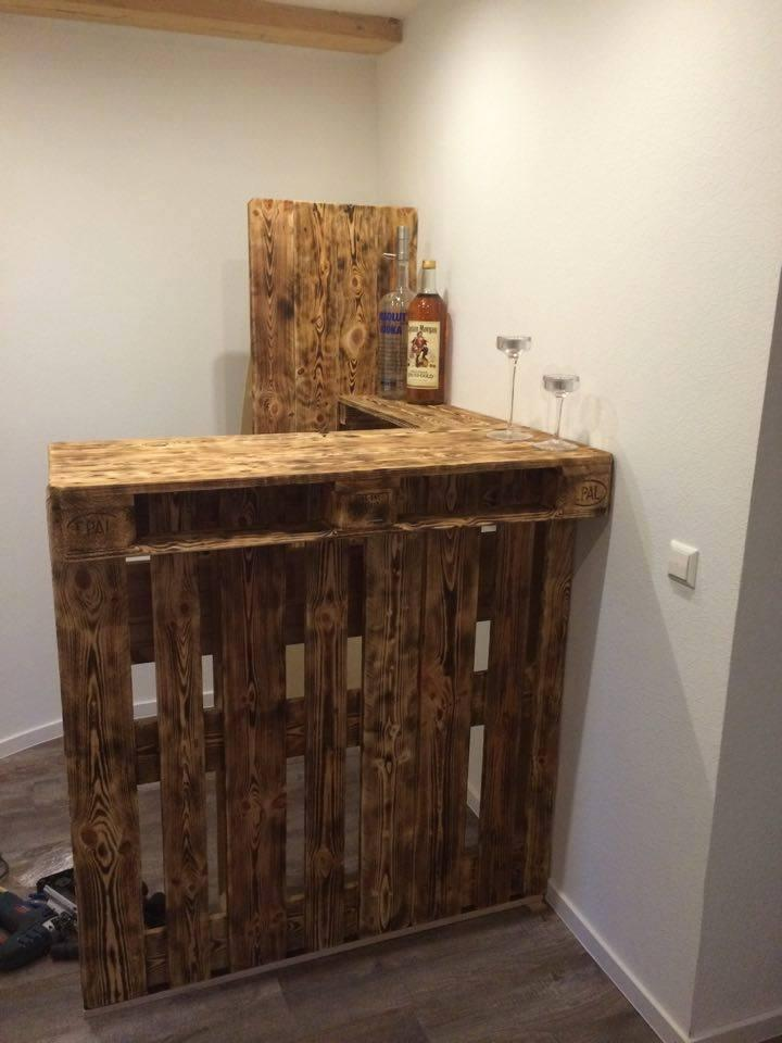 custom-built pallet bar