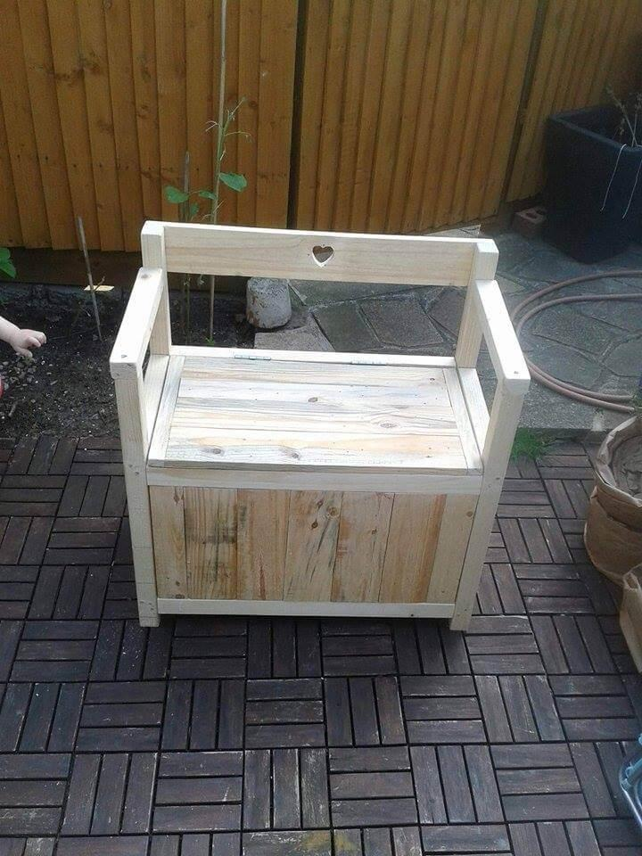 Diy Pallet Toy Chest Seat Or Bench Easy Pallet Ideas