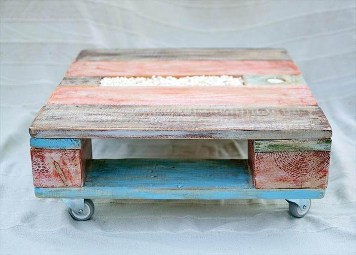 handmade wooden pallet mini coffee table