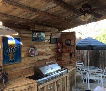 repurposed pallet outdoor kitchen