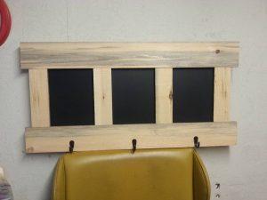Pallet Coat Rack with Chalkboard