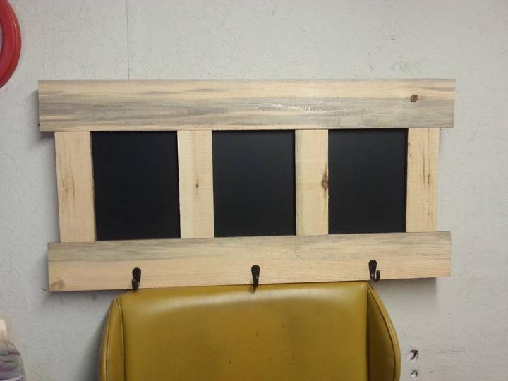 rustic wooden pallet wall organizer
