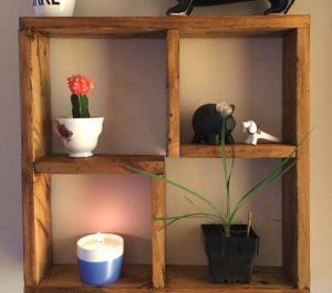 DIY Decorative Pallet Shelf Unit