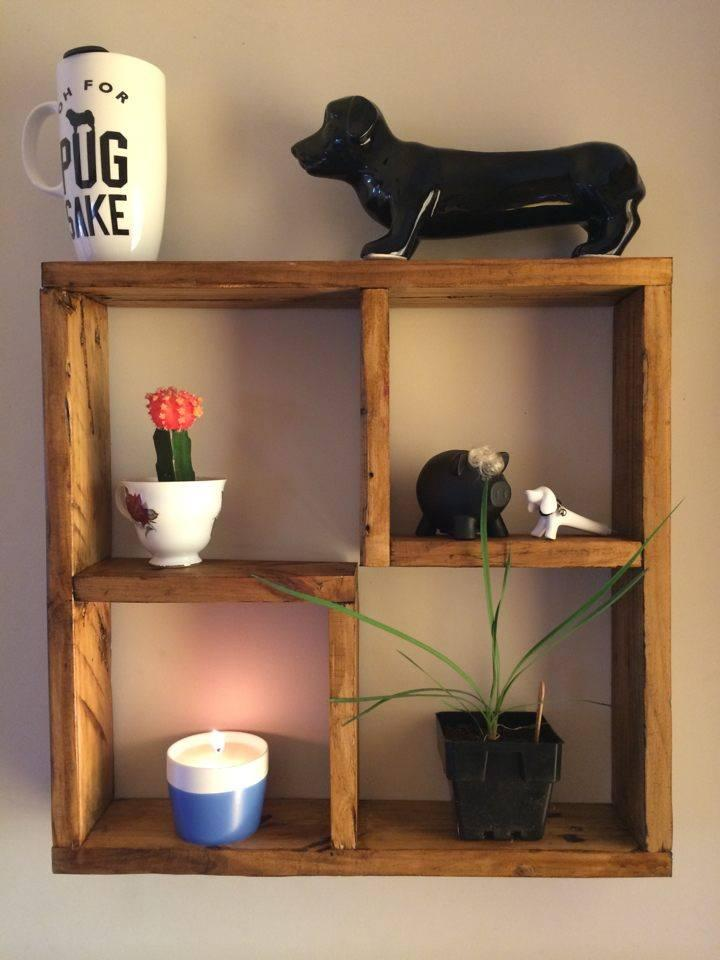 DIY Decorative Pallet Shelf Unit - Easy Pallet Ideas