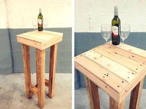 Bar Stools Made of Pallets