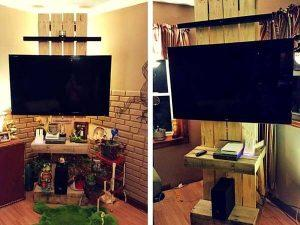 Pallet Media Tower or TV Stand