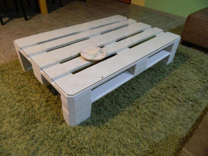 wooden pallet low coffee table