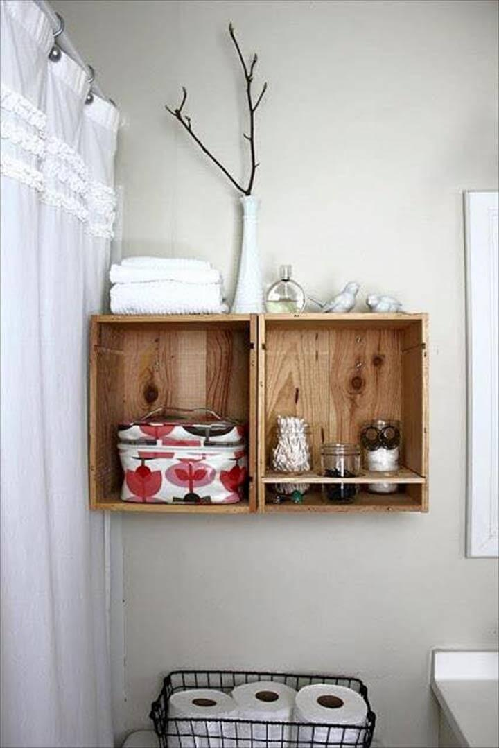 pallet box style shelves