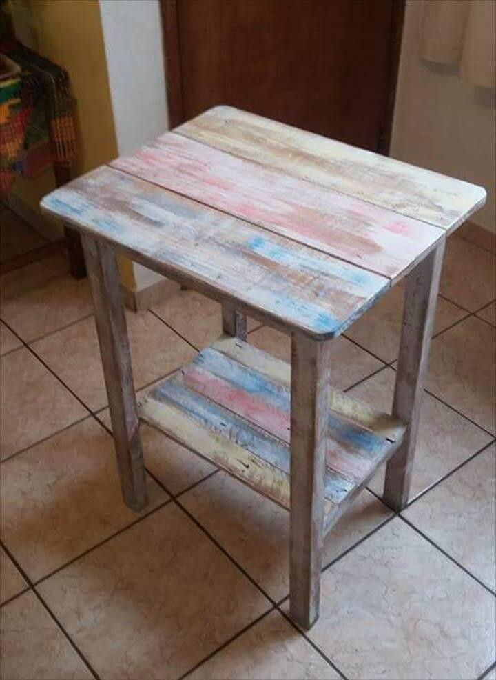diy mini pallet table