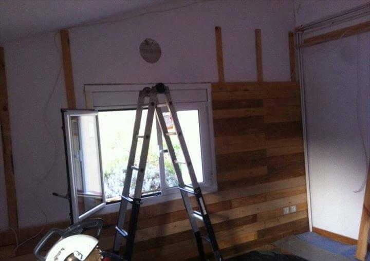 Installing the pallet slats