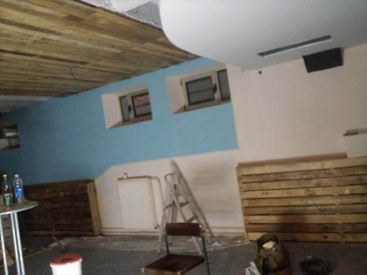 rustic pallet wood interior remodeling