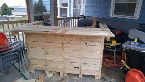 handmade pallet bar counter