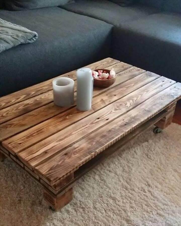 custom large low pallet coffee table