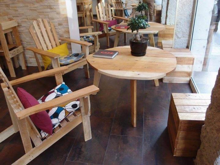 low-cost pallet shop furniture