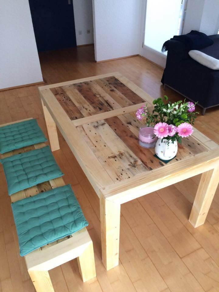 diy wooden pallet dining set