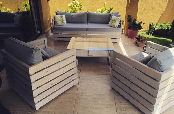 pallet living room sitting set
