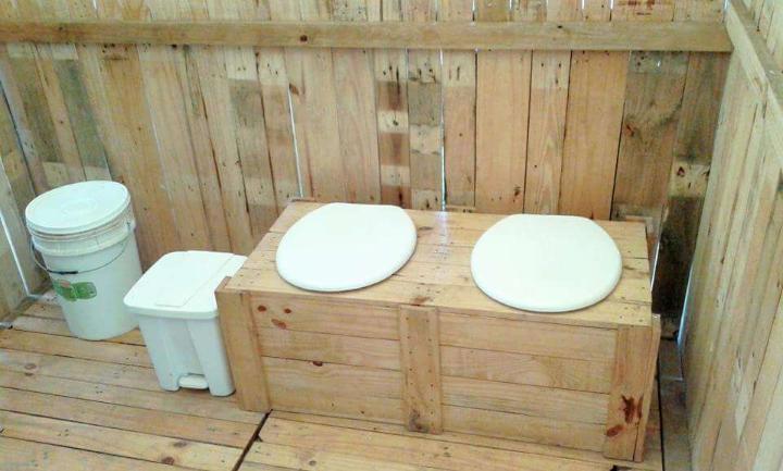 pallet toilet room renovation